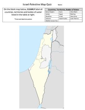 Israel-Palestine Map Quiz