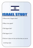 Israel Study Worksheets