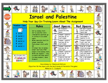 Israel and Palestine Board Game