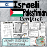 Israeli Palestinian Conflict PowerPoint, Cloze Notes, and