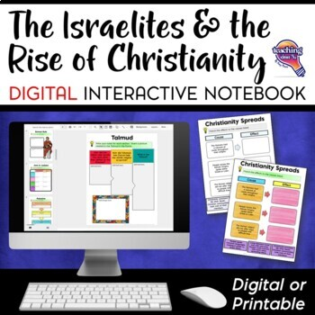 Israelites & Early Christianity DIGITAL Interactive Notebook Unit World History