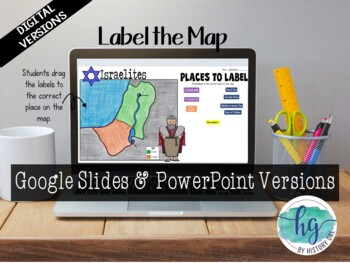 Israelites or Hebrews Map Activity