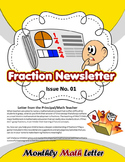 Fraction Newsletter {Fraction Games & Activities} - All Text is EDITABLE!!