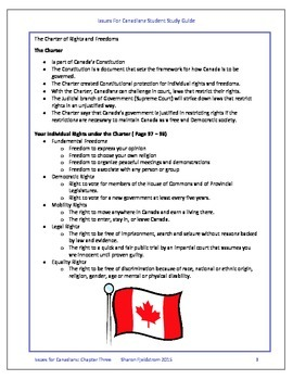 Issues for Canadians Chapter Three Teacher and Student guide