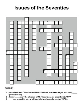 Issues of the Seventies - Crossword Review Puzzle