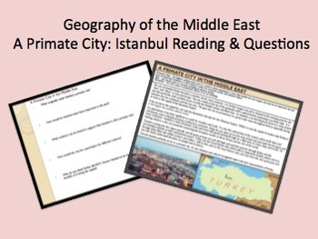 Istanbul: A Primate City Reading & Questions