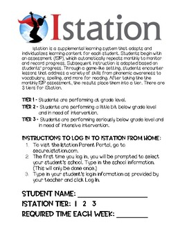 Istation Letter to Parents