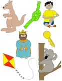 It Begins with K: Clip Art for the Letter K and the Sounds it Makes!