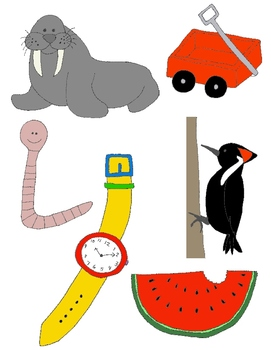 It Begins with W: Clip Art for the Letter W and the Sound it Makes!