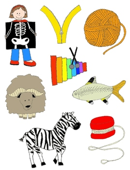 It Begins with X, Y, or Z: Clip Art for X, Y, Z and the Sounds They Make!