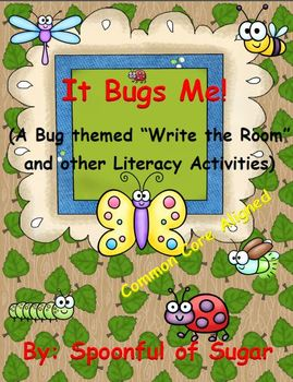 """It Bugs Me! (A Bug themed """"Write the Room and other Litera"""