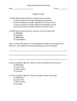 It Came From Ohio! My Life as a Writer Chapter 13 Quick Quiz
