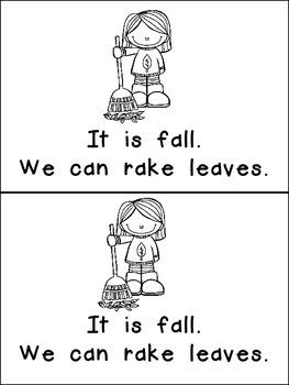 It Is Fall- Nonfiction Leveled Reader- Level B Kindergarten Science Seasons
