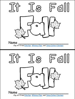It Is Fall- Nonfiction Leveled Reader- Level B Kindergarte