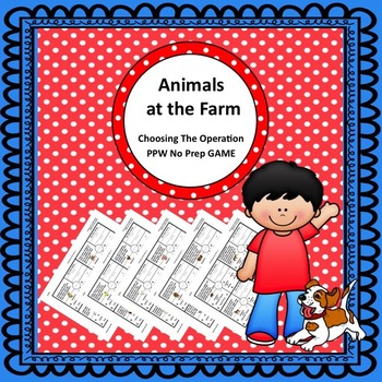 """It Is How It Is """"Word-ed"""" Problems - Farm - 2 Digit - No Regrouping"""