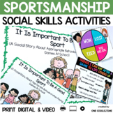 Social Story Being A Good Sport Print Digital Video Distance Learning