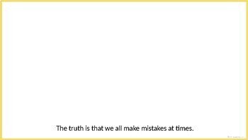 It Is OK to Make a Mistake (School Work) - Social Story Template