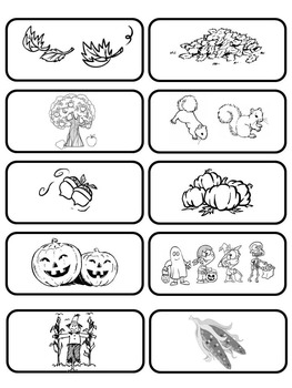 It Must Be Fall Emergent Reader and Vocabulary-Picture Matching Cards