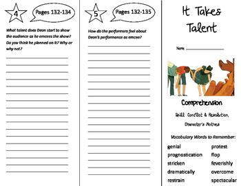 It Takes Talent Trifold - Storytown 5th Grade Unit 1 Week 5