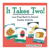 It Takes Two Easy-to-Prep Center • Back to School Activity