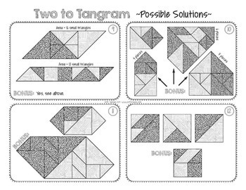 Math Tangram Cooperative Learning  Math Centers