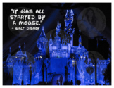 It Was All Started by a Mouse Walt Disney Motivational Pos