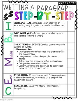 It Was My Summer Vacation! Narrative Step-Up Paragraph Packet