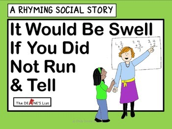 Social Stories for Autism: It Would Be Swell If You Did Not Run & Tell