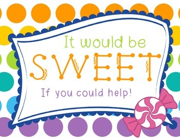 Wish List Candy Themed: It Would be Sweet if You'd Help!