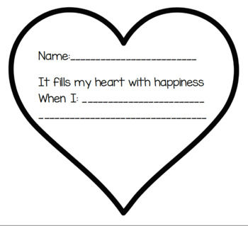 It fills my heart with happiness heart craft