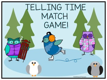 """Telling Time """"Clocks Every 5 Minutes"""" (Game)"""