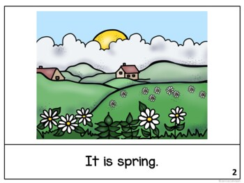It is April ~April reader {Young Readers, ESL, EFL}