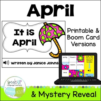 It is April ~April reader {Young Readers, ESL, EFL}