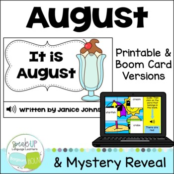 It is August ~August reader {Young Readers, ESL, EFL}