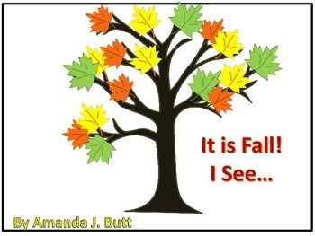 It is Fall.  I See... Interactive Book (Autism; Nonverbal; Special Needs)
