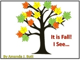 It is Fall.  I See... Interactive Book (Autism; Nonverbal;
