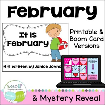 It is February ~February reader {Young Readers, ESL, EFL}