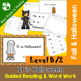 Guided Reading Book and Word Work Level B, It is Halloween