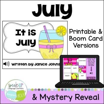 It is July ~July reader {Young Readers, ESL, EFL}