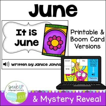 It is June ~June reader {Young Readers, ESL, EFL}