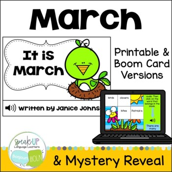 It is March ~March reader {Young Readers, ESL, EFL}