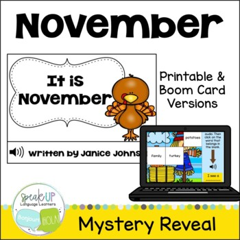 It is November ~November reader {Young Readers, ESL, EFL}
