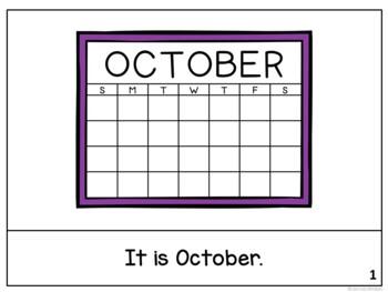 It is October ~ October reader {Young Readers, ESL, EFL}