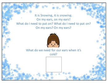 It is Snowing! Predictive and interactive Vocabulary Song Book