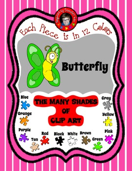 It is Spring with Butterfly Clip Art ~ 12 Colors & Free Commercial Use