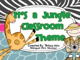 It is a Jungle Classroom Theme (Including Spanish Alphabet