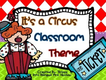 It is a Circus Classroom Theme (Including Spanish Alphabet and more)