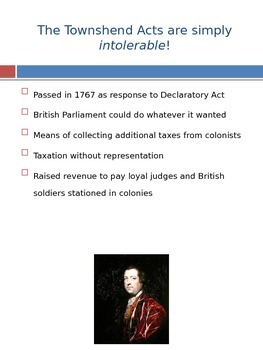 It Is Simply Intolerable! The Intolerable Acts.