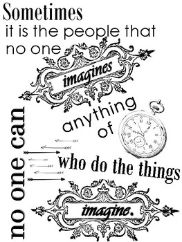 It is the people that non one imagines...Imitation Game Quote Poster PDF