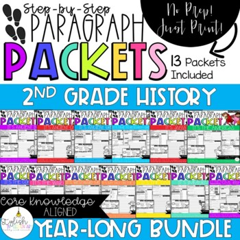It's 2nd Grade Core Knowledge! History Paragraph Packet Bundle